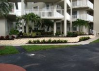Image: Retaining Wall Completed | Completed Palm install | Landscaping services at TLC Lawn in Naples, FL